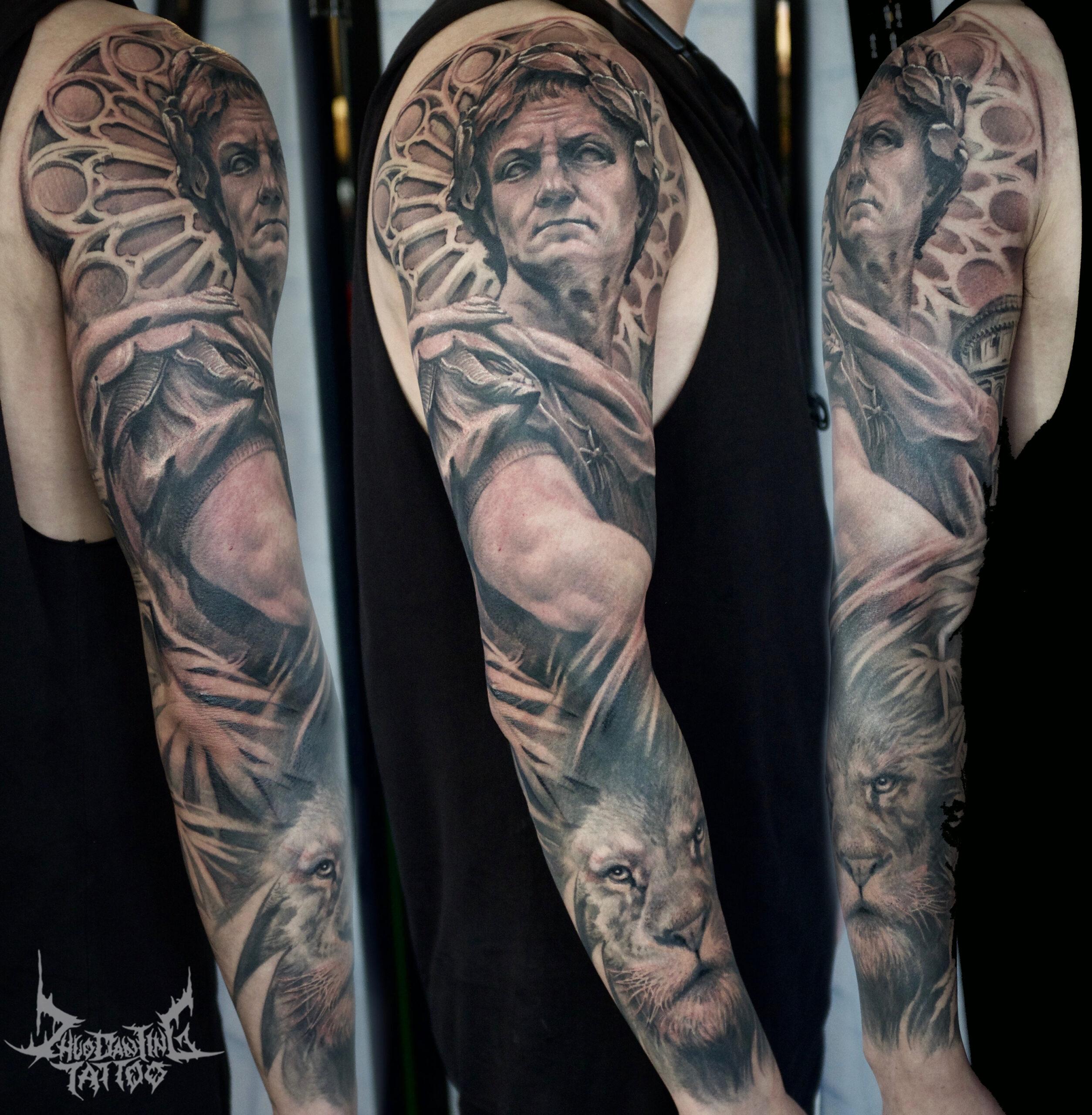 zhuo dan ting tattoo work 卓丹婷纹身作品 凯撒大帝纹身 1