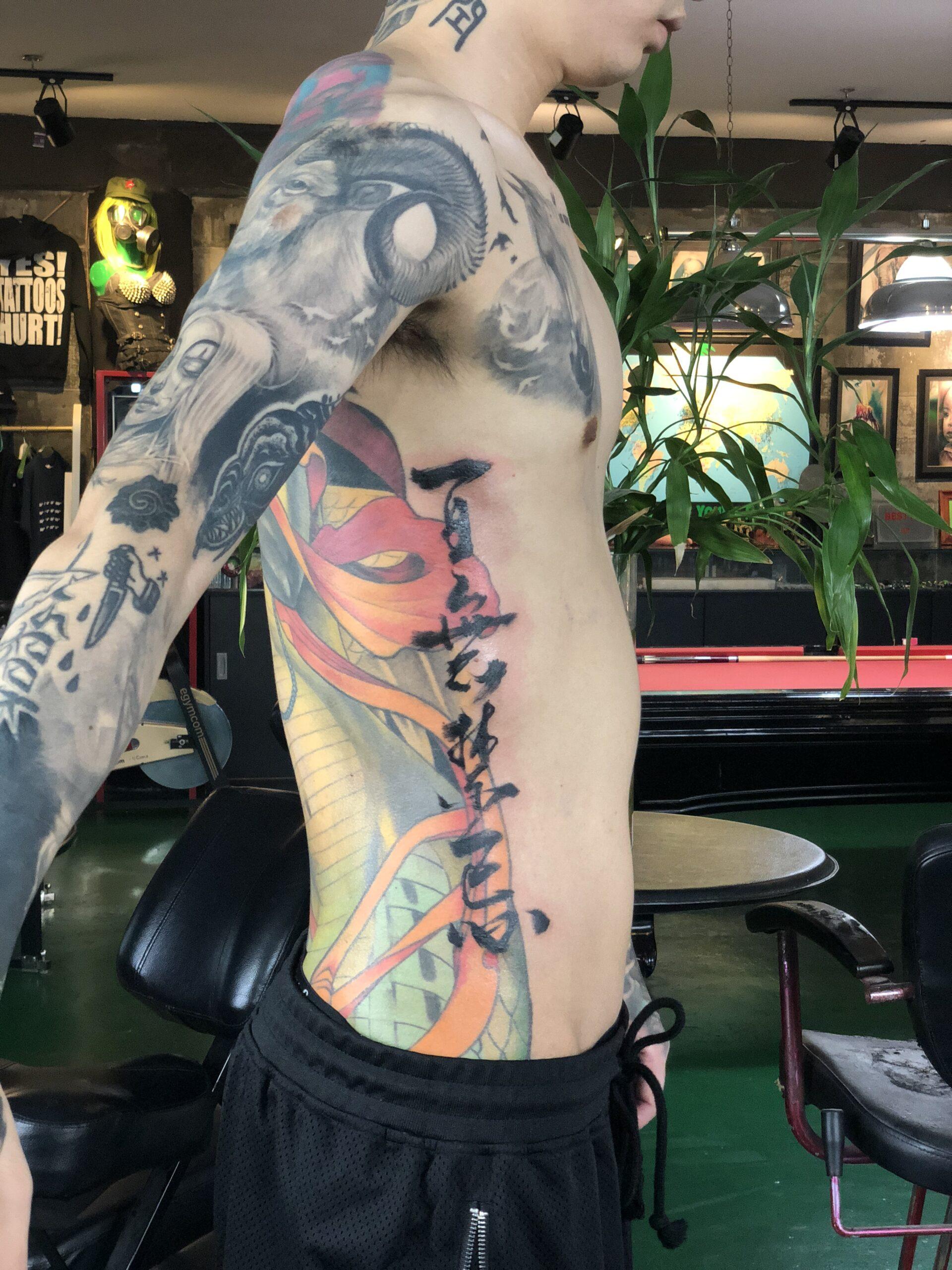 zhuo dan ting tattoo work 卓丹婷纹身作品 百无禁忌 1