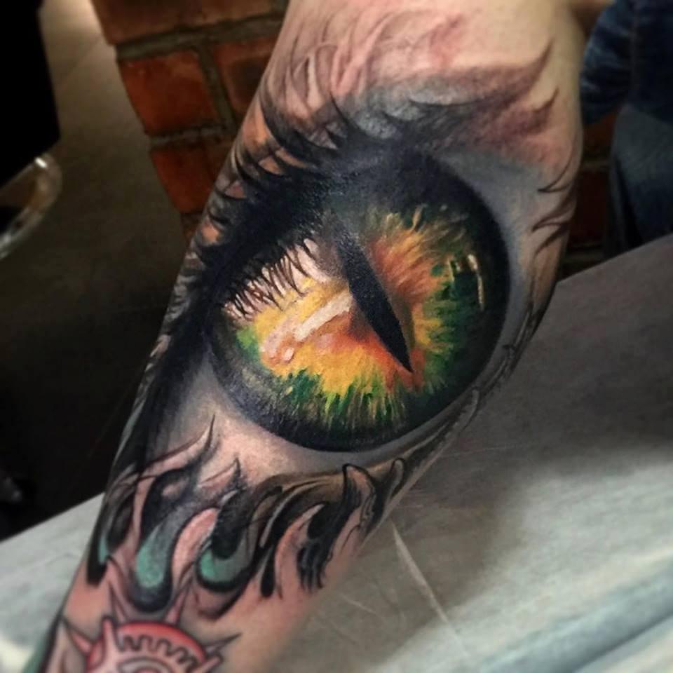 zhuo dan ting tattoo work eye tattoo卓丹婷眼球纹身 1
