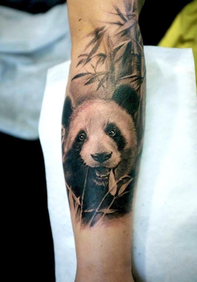 zhuo dan ting tattoo work panda tattoo的、卓丹婷纹身熊猫 1