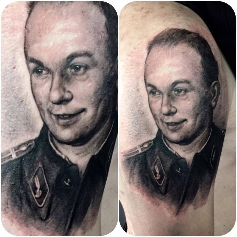 zhuo dan ting tattoo work portrait tattoo卓丹婷写实肖像纹身 1