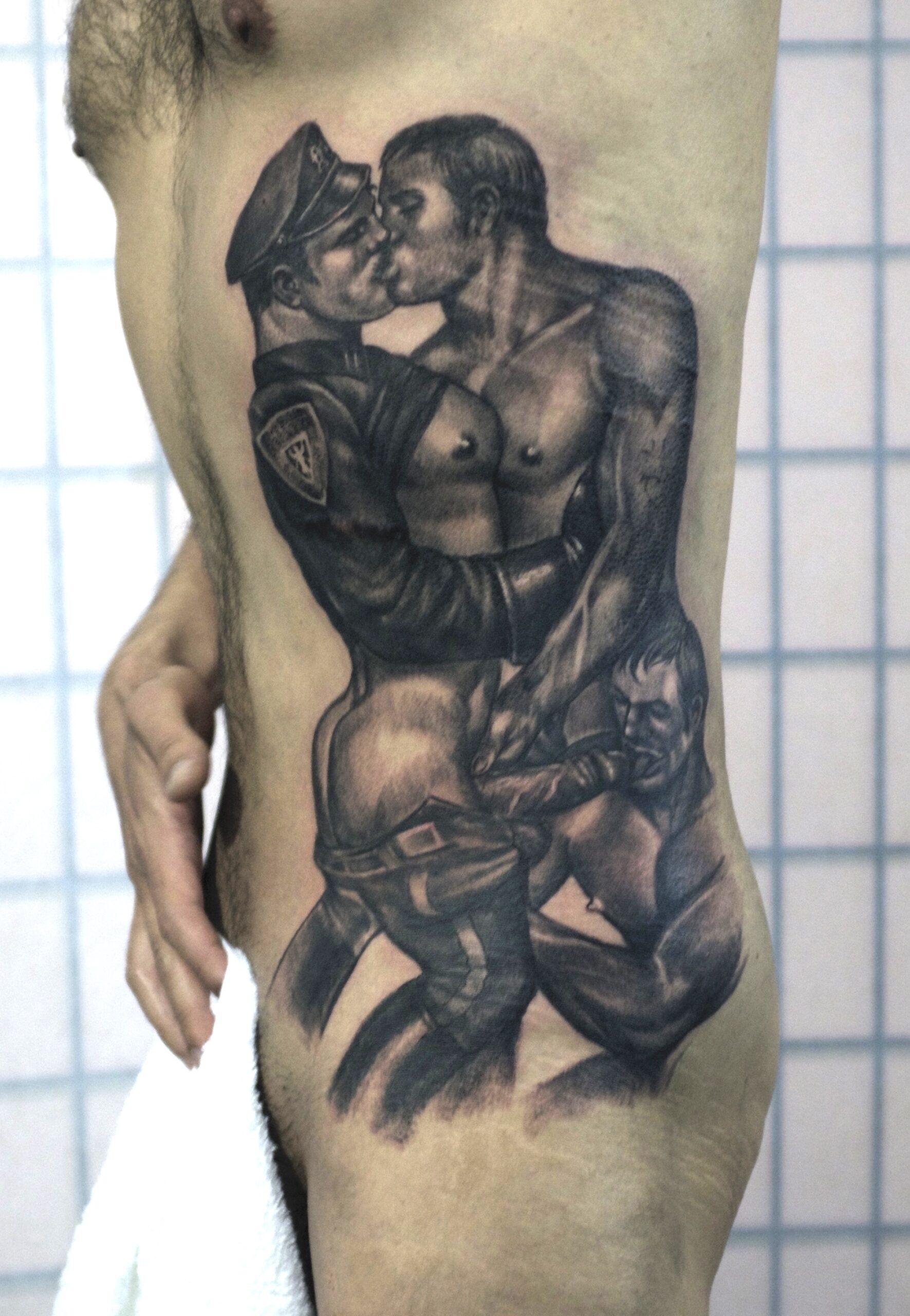 zhuo dan ting tattoo work tom of finland 1 1