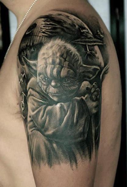 zhuo dan ting tattoo work yoda tattoo 1